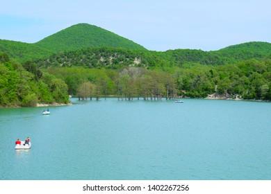 Beautiful Sukko Lake near Anapa,  Russia