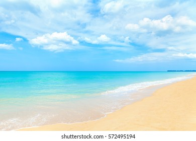 beautiful summer beach and tropical sea