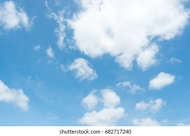 Beautiful summer blue sky and white fluffy clouds with sunlight in afternoon.