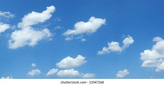Beautiful summer clouds background