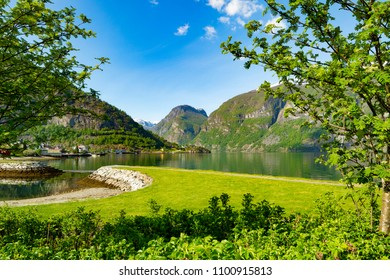 A beautiful summer day in Aurland, in Norway