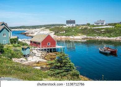Beautiful summer day at Peggy's Cove.