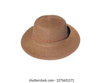 Beautiful summer hat isolated on white background