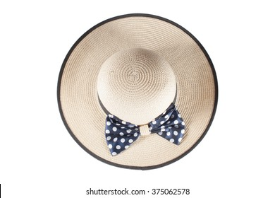 Beautiful summer hat isolated on white background
