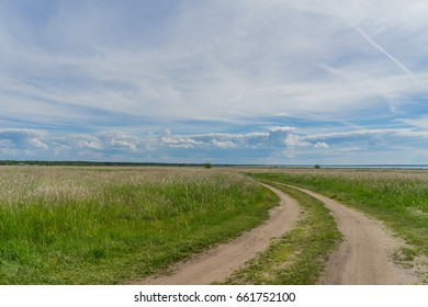 Beautiful summer landscape at the baltic sea