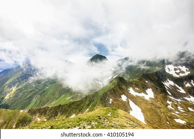 Beautiful summer landscape from Fagaras mountains, Romania