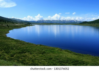 Beautiful summer landscape on a sunny day in the Altai Republic in Russia