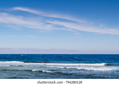 Beautiful summer landscape with Red Sea, South Sinai, Dahab