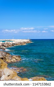 beautiful summer landscape of sea coast