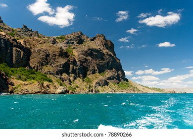 Beautiful summer landscape with the seaside