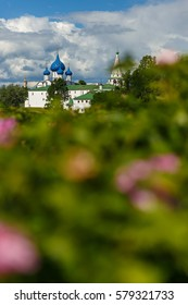 Beautiful summer landscape with view of the Suzdal Kremlin.