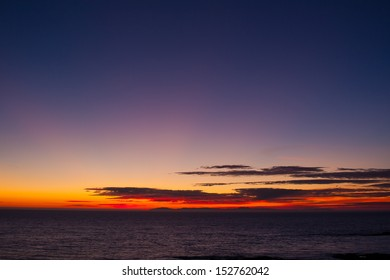 Beautiful summer sunset at the beach