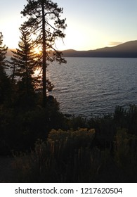 Beautiful summer sunset at Lake Tahoe.
