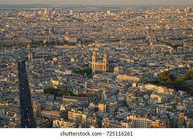 Beautiful summer sunset over a Paris.