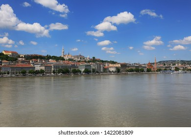 Beautiful summer view of the Danube River and the city of Budapest in Hungary