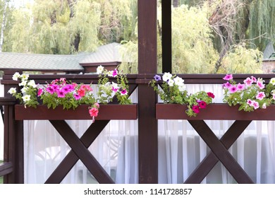 Beautiful summerhouse with flowers