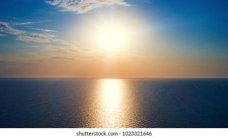 Beautiful sun rise at beach.