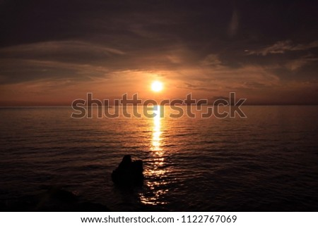 Beautiful Sun Rising Morning Tropical Beach Stock Photo Edit Now