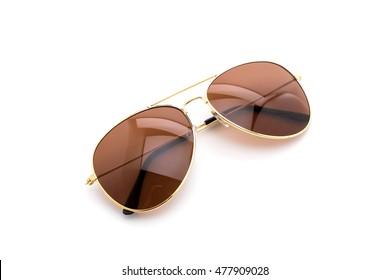 beautiful sunglasses on white background