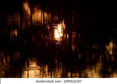 Beautiful sunlight reflection on a pond water isolated unique abstract background photo
