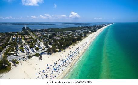 Beautiful sunny day in Anna Maria Island, Florida.