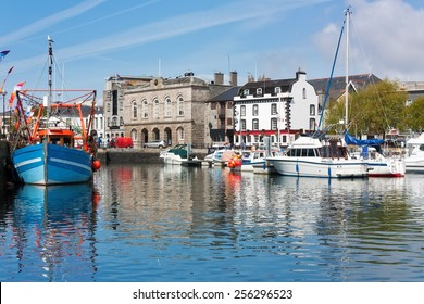 Beautiful sunny day at the harbour in the Barbican area of Plymouth Devon England UK
