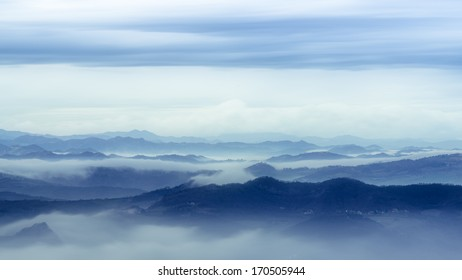 Beautiful sunny day is in mountain landscape