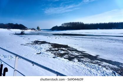 Beautiful sunny day in the winter season!