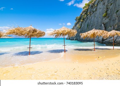 A beautiful sunny day in Xigia Beach - Zakynthos Island - Greece