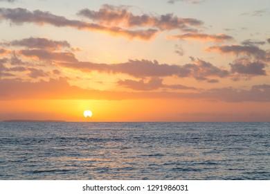 Beautiful sunrise at Alona beach, Panglao island, Bohol, Philippines