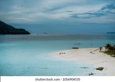 Beautiful sunrise beach at Koh lipe island in Thailand