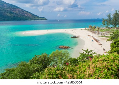 Beautiful sunrise beach at Koh Lipe island in Satun,Thailand