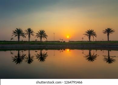 Beautiful Sunrise at Dammam Saudi Arabia,