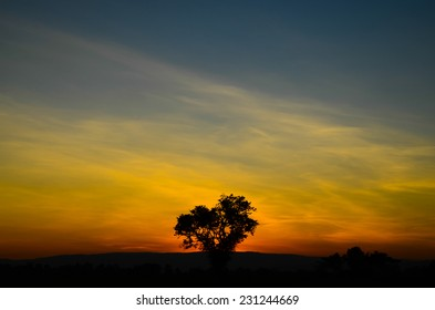 beautiful sunrise end of the day, Nature background
