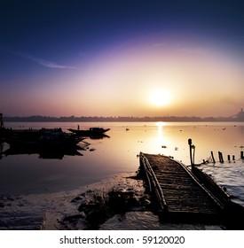 Beautiful Sunrise In Ganges