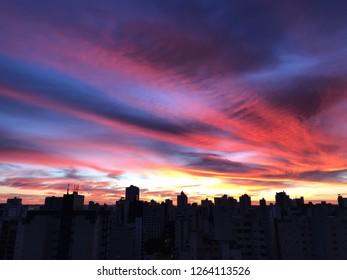 Beautiful sunrise in Goiania, Goias, Brazil