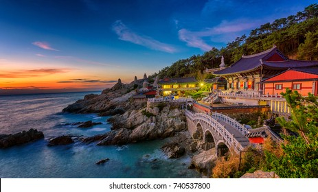Beautiful sunrise Haedong Yonggungsa Temple Busan,Korea.