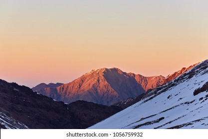 Beautiful sunrise in the high Atlas Mountains, Morocco