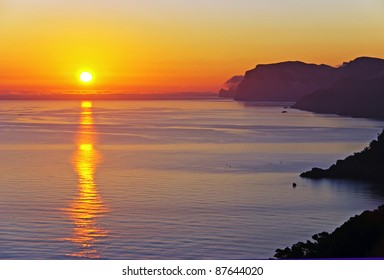 Beautiful sunrise in the island of Majorca (Balearic Islands - Spain)