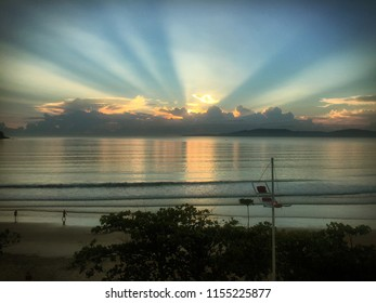 Beautiful sunrise in Itapema - Santa Catarina (Brazil)