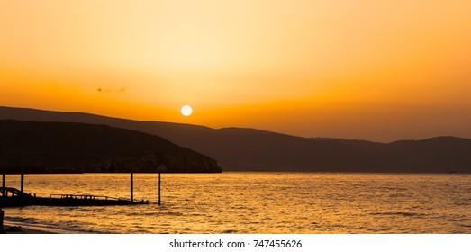Beautiful sunrise in Khasab, Oman