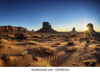 Beautiful sunrise at Monument Valley, USA