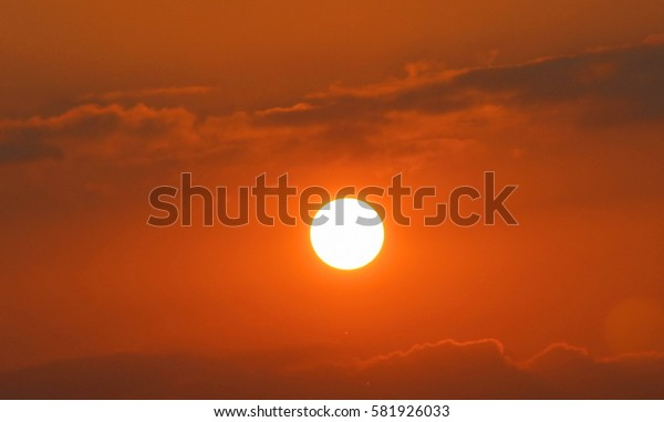 Beautiful sunrise in the morning. Sunlight in Thailand.