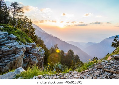 Beautiful sunrise in the mountains, Olympus National Park, Greece