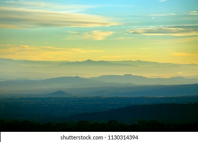 A beautiful sunrise in the occidental zone of El Salvador, Central America