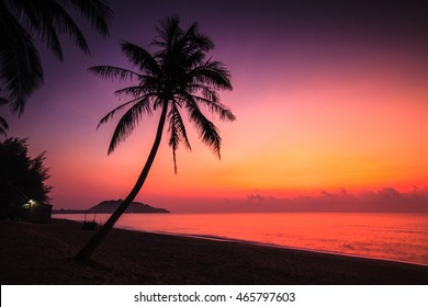 Beautiful sunrise on the beach.