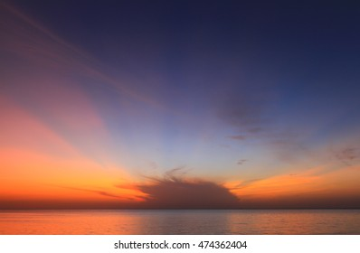 Beautiful sunrise on the Samilar beach.
