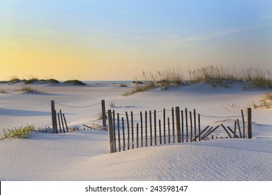 A Beautiful Sunrise on a White Sand Florida Beach
