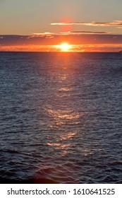 Beautiful sunrise over the Atlantic Ocean