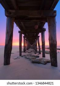 Beautiful sunrise over the beautiful beach in Australia.